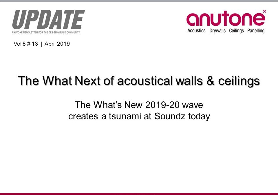 Video Newsletter – The What Next of acoustical walls & ceilings