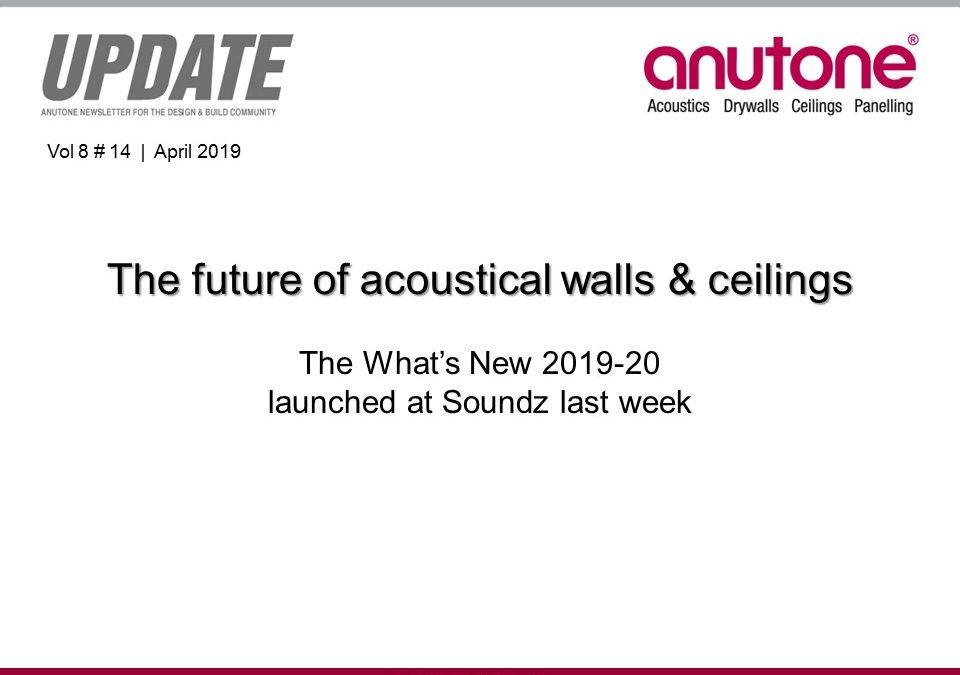 Video Newsletter – future of acoustical walls – ceilings