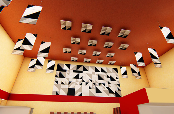 The What Next of acoustical walls and ceilings