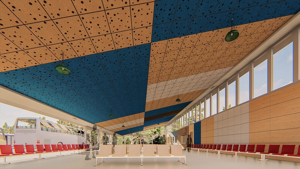 Acoustics for Railway and Bus Stations